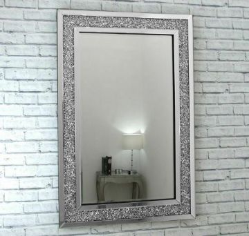 Gatsby Crushed Diamond Mirror